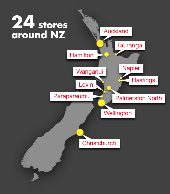 24 stores around NZ